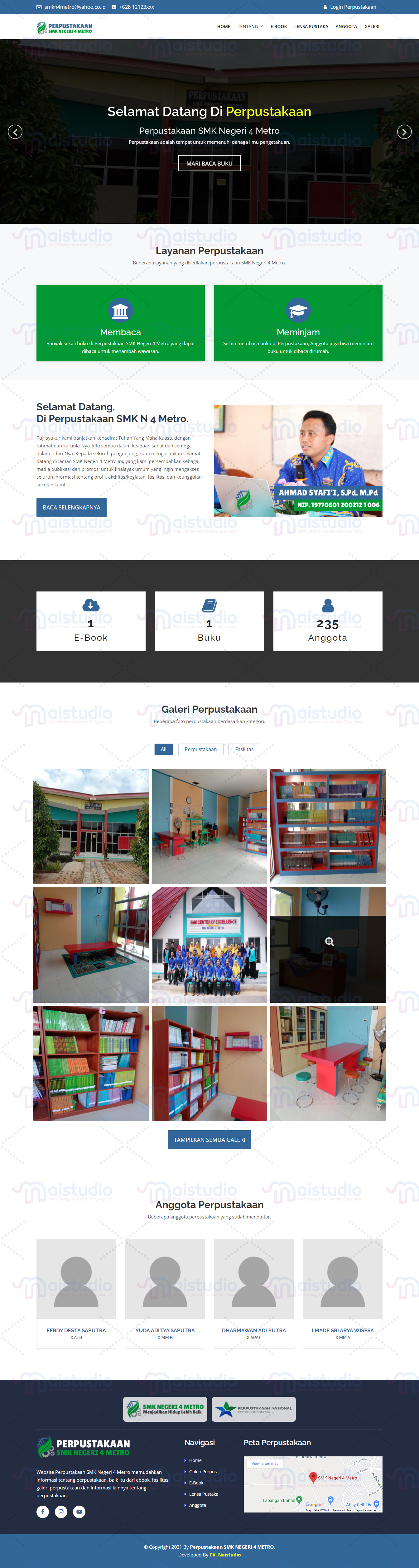 Aplikasi Layanan Perpustakaan Online SMK Negeri 4 Metro
