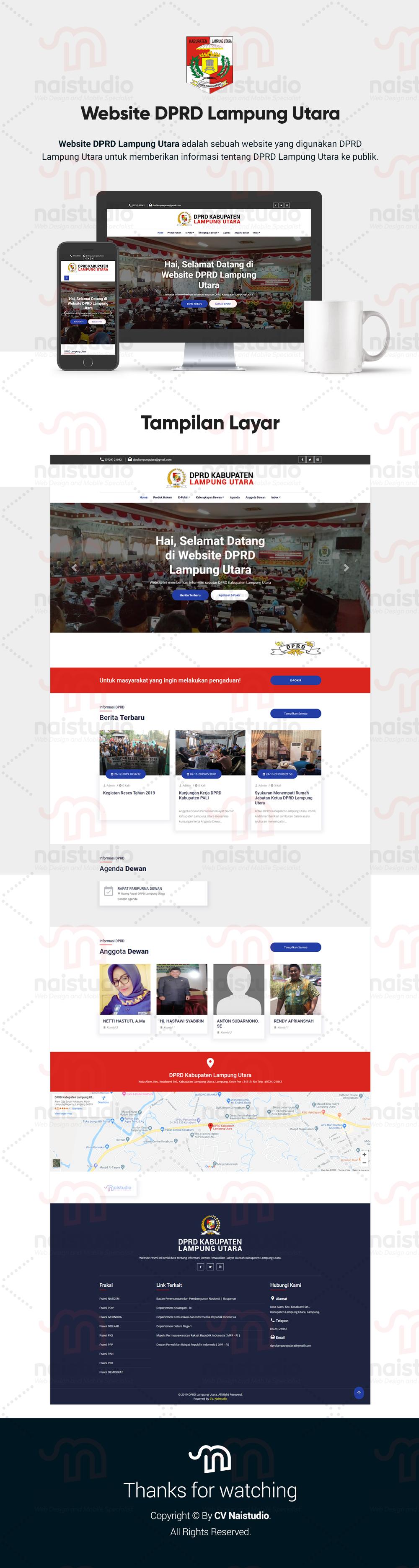 Website Official DPRD Lampung Utara