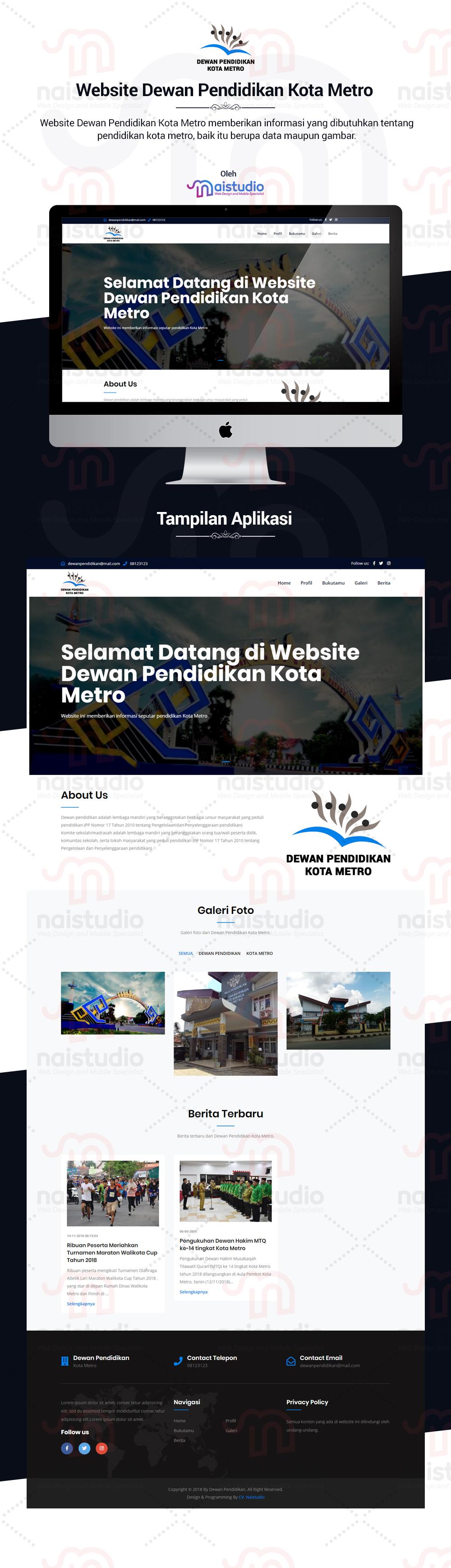 Website Dewan Pendidikan Kota Metro