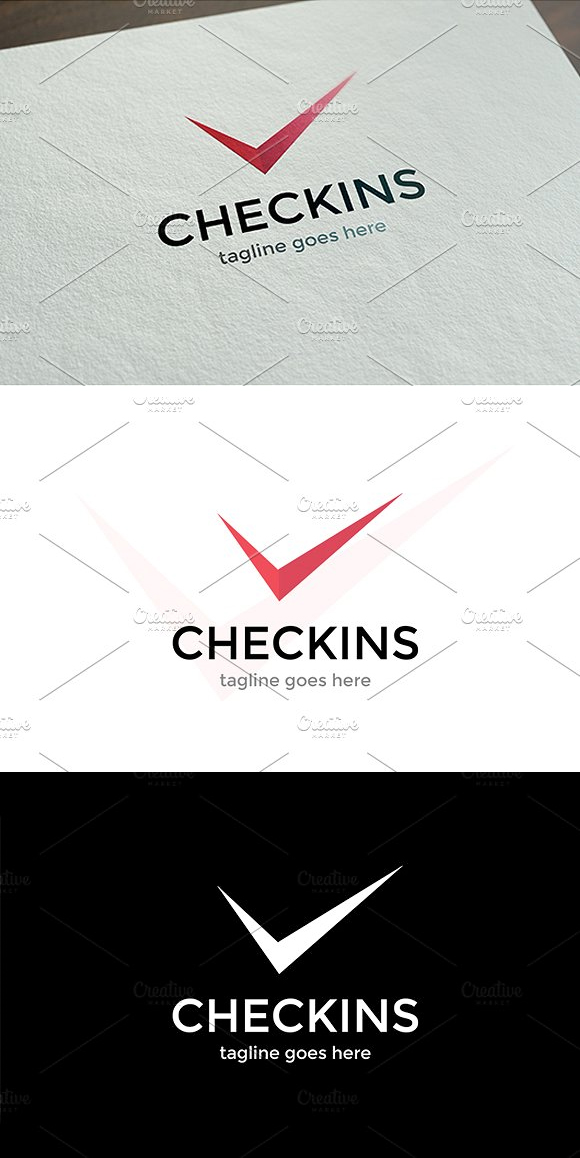Checkins Logo Template