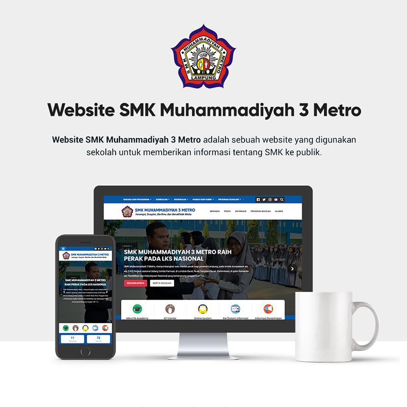 Website Official SMK Muhammadiyah 3 Metro