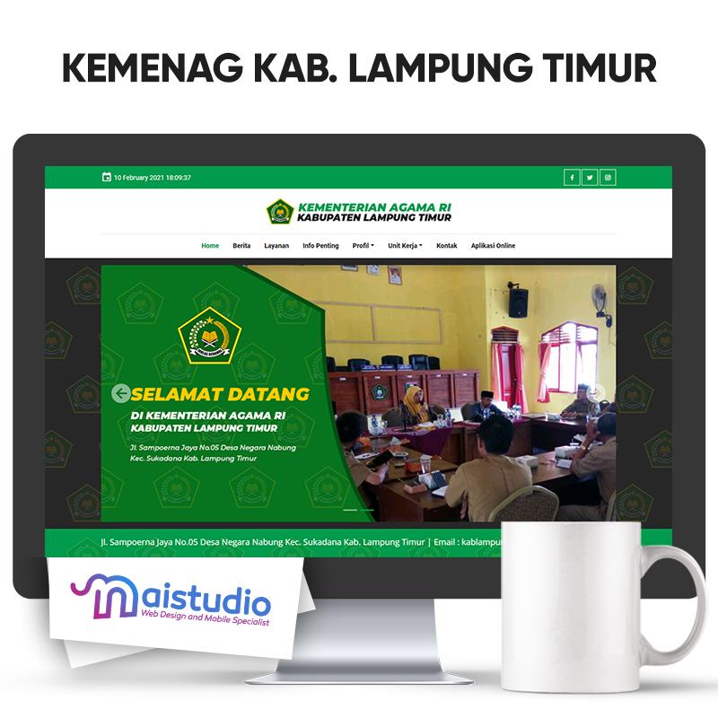 Website Official Kementerian Agama Kabupaten Lampung Timur