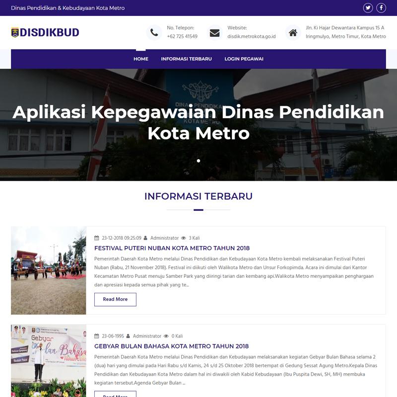 Aplikasi Kepegawain Dinas Pendidikan dan Kebudayaan Kota Metro