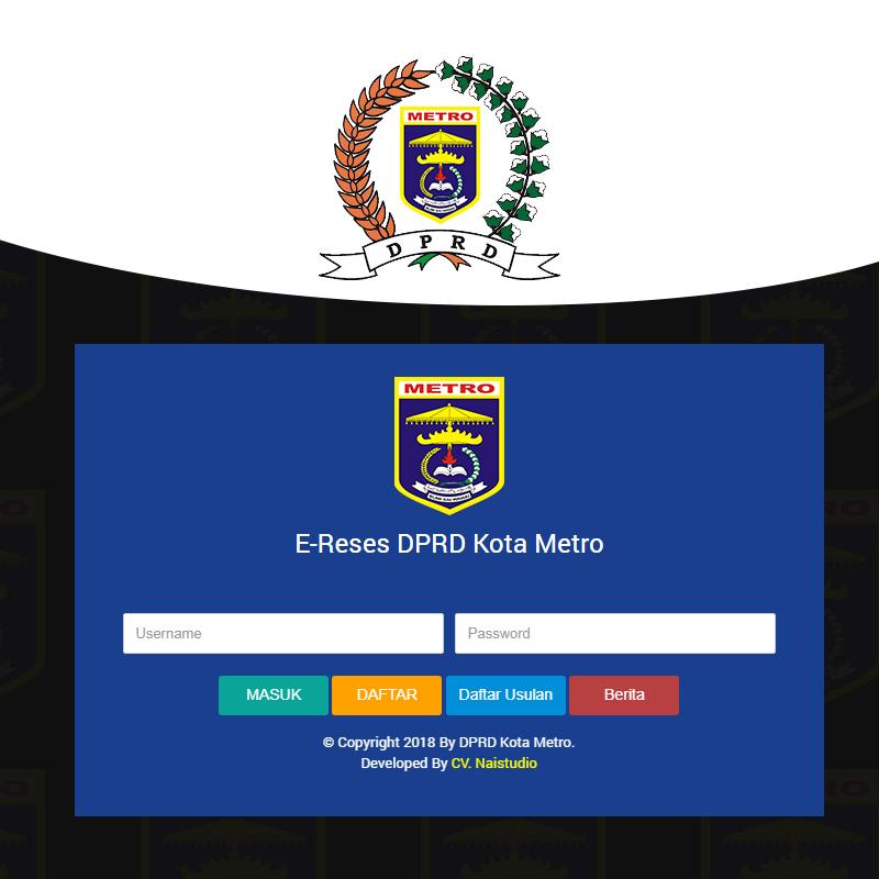 E-Reses DPRD Kota Metro