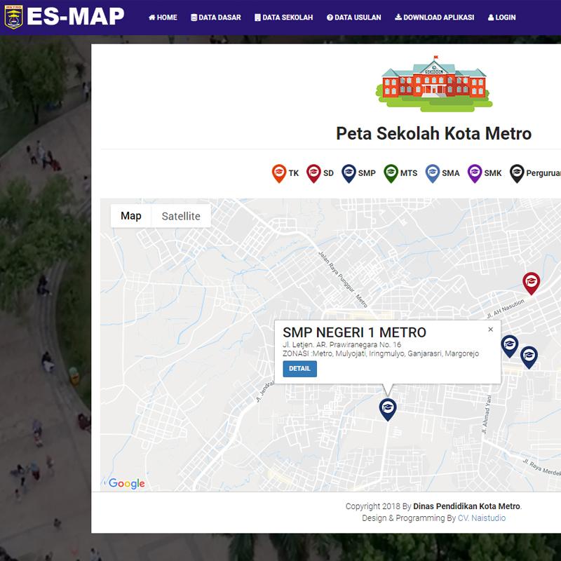 ES-Map Dinas Pendidikan Kota Metro