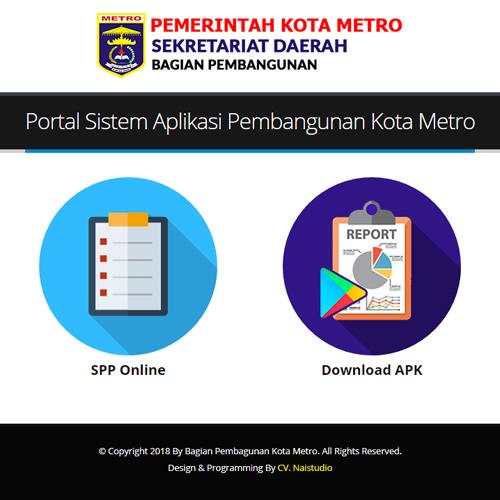 Portal Sistem Aplikasi Pembangunan Kota Metro