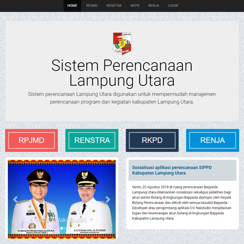 Portal Sistem Perencanaan Lampung Utara