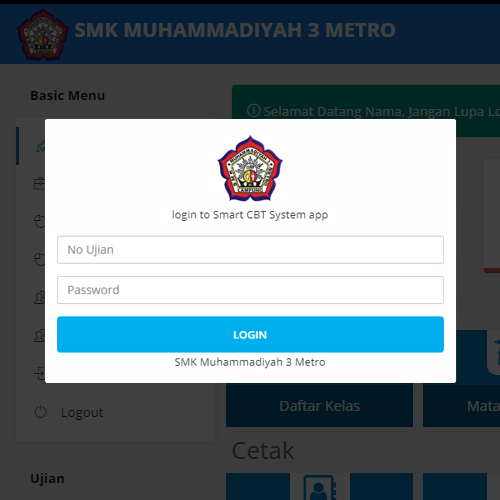 CBT SMK Muhammadiyah 3 Metro