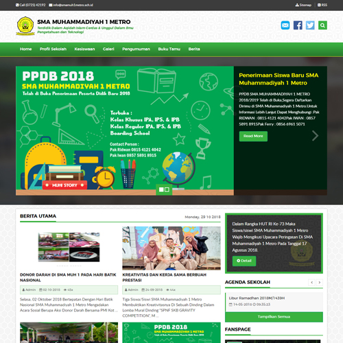 SMA Muhammadiyah 1 Metro Website